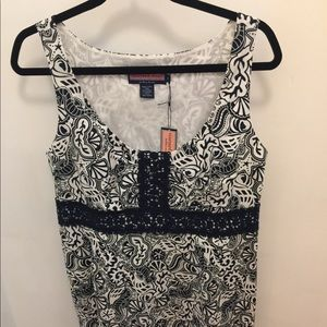 NWT Vineyard Vines Navy Blue and White Shift Dress